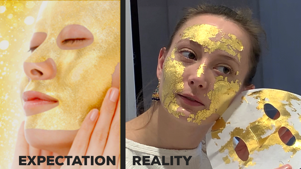 Gold leaf mask expectation vs reality