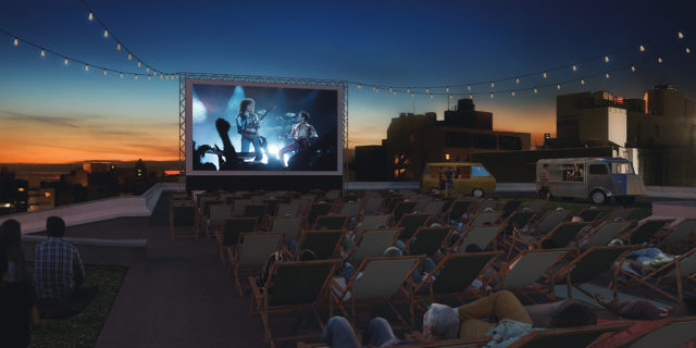 Tatemachi Rooftop Film Fest Mockup with Bohemian Rhapsody