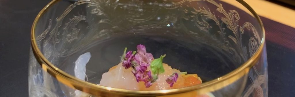 Cup of sashimi at Sushi Issey, Kanazawa