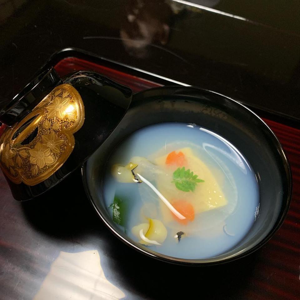 Delicate soup served at Tsubajin in Kanazawa