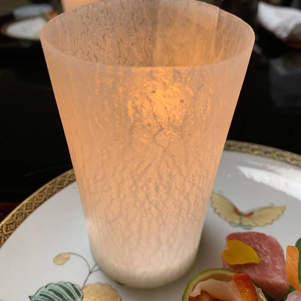 Tsubajin daikon raddish lantern in Kanazawa