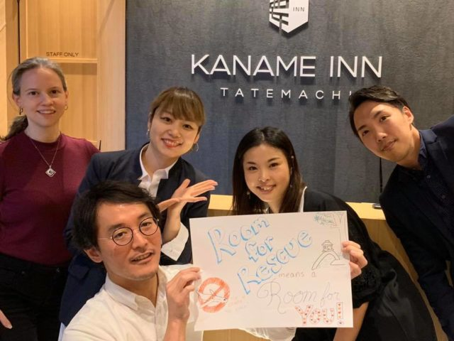 "Kaname Japan authors supporting the ""Room for Rescue"" project to give stranded travelers a place to stay in Kanazawa"