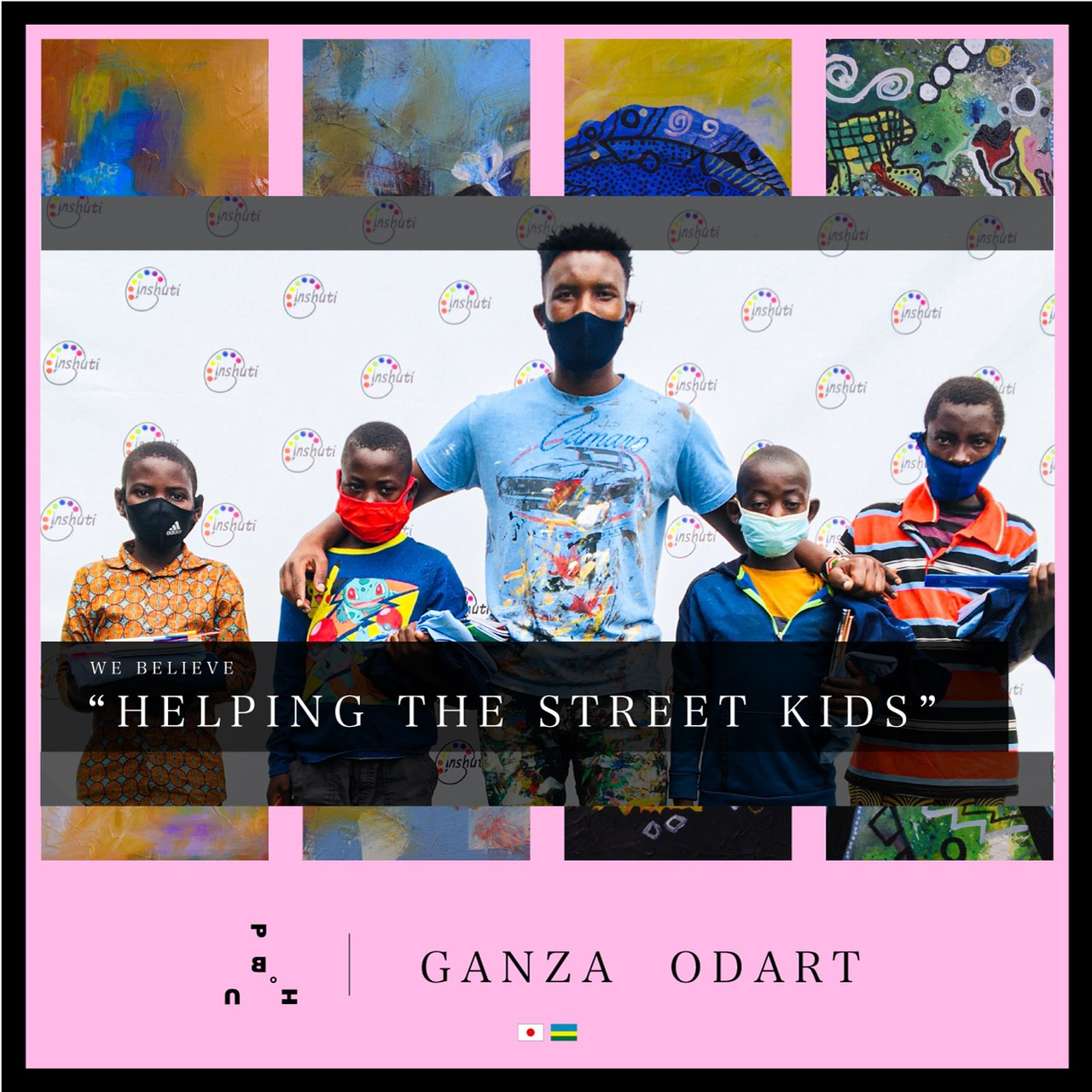 Ganza Odart's projects include aiding children through his art and introducing art to communities