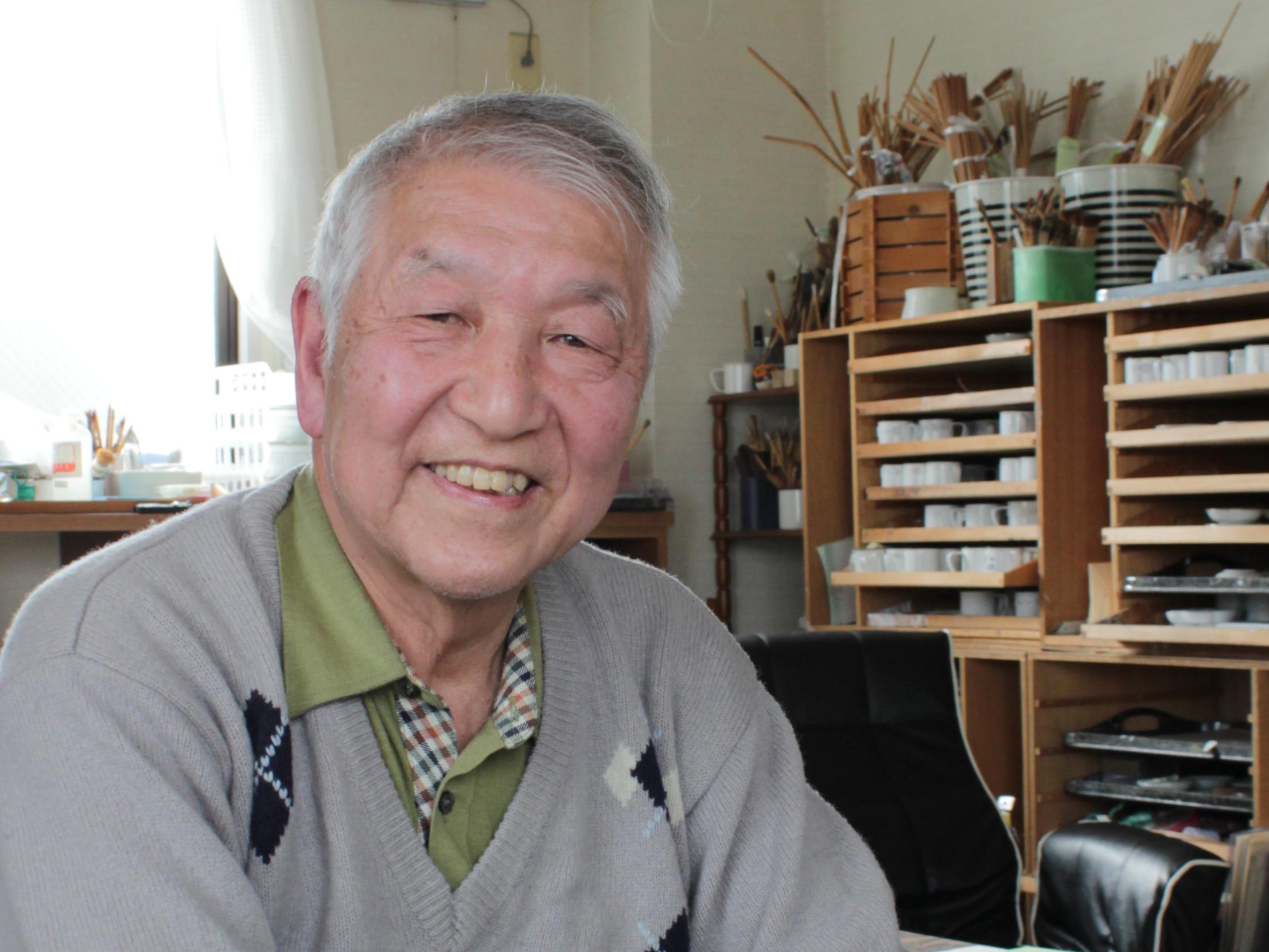 Ikkou Teranishi, master kimono artist at the Nagamachi Yuzenkan in Kanazawa